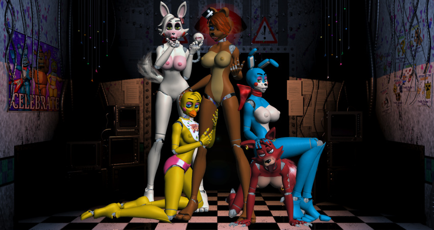 and nights chica at foxy five freddy's Naruto and fem kami love fanfiction